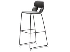 Sgabello in poliuretano a slitta NUBE SL SG 80 - CHAIRS & MORE