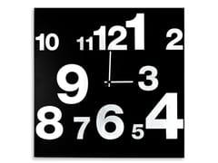 Orologio in lamiera da pareteNUMBERS - DESIGNOBJECT.IT