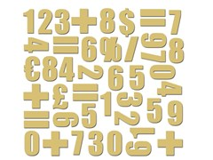 MagneteNUMBERS GOLD - GROOVY MAGNETS