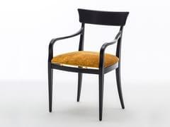 Sedia imbottita in frassino con braccioli NUOVA | Sedia con braccioli - Milano Collection