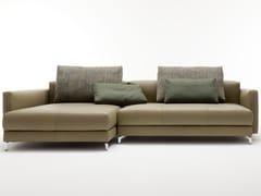 Divano componibile in pelle con chaise longue NUVOLA | Divano con chaise longue -