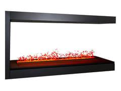 Caminetto a tripla facciata ad acqua incassatoNZW48F Peninsula Firebox - NETZERO FIRE DIVISION