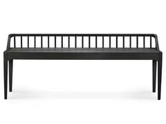 Panca in rovere con schienaleOAK BLACK SPINDLE | Panca - ETHNICRAFT