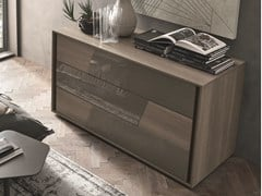 Cassettiera in rovere con maniglie integrate KROSS | Cassettiera in rovere - Kross