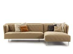Divano in tessuto con chaise longue OBI | Divano con chaise longue -