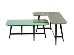 Tavolino laccato modulare rettangolare OCTET - Les Contemporains