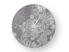 Orologio da parete in legno stuccato ODALISQUE COLD | Orologio - DOLCEVITA MARRAKECH