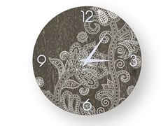 Orologio da parete in legno stuccato ODALISQUE WARM | Orologio - DOLCEVITA MARRAKECH
