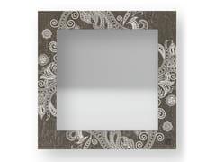 Specchio quadrato da parete con cornice ODALISQUE WARM | Specchio - DOLCEVITA MARRAKECH