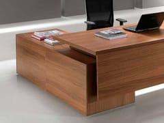 Scrivania ad angolo in legno con cassettiODEON | Scrivania ad angolo - CASTELLANI.IT