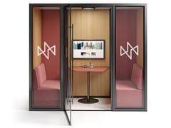 Isola ufficio acustica con illuminazione integrata per pausa caffèFLEXCAB | Isola ufficio per pausa caffè - CIDER