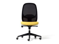 Sedia ufficio ad altezza regolabile in rete a 5 razze con ruoteHOP | Sedia ufficio - DIEMME