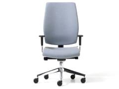 Poltrona ufficio direzionale ad altezza regolabile in tessuto a 5 razzeLEAD | Poltrona ufficio direzionale a 5 razze - DIEMME