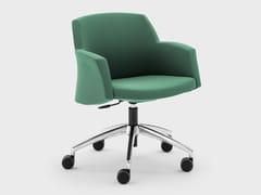 Sedia ufficio in tessuto con braccioli con ruote su trespoloMISS GRACE | Sedia ufficio - VIGANÒ & C.
