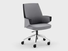 Sedia ufficio in tessuto con ruote su trespoloGRACE | Sedia ufficio - VIGANÒ & C.