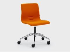 Sedia ufficio in tessuto con ruote su trespoloQUEEN FABRIC | Sedia ufficio - VIGANÒ & C.