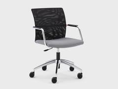 Sedia ufficio in tessuto con braccioli con ruoteQUEEN MESH | Sedia ufficio - VIGANÒ & C.