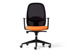 Sedia ufficio in rete a 5 razze con braccioliHOP | Sedia ufficio con braccioli - DIEMME