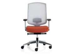 Sedia ufficio girevole reclinabile in rete con braccioliASSIA | Sedia ufficio con braccioli - VAGHI