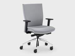 Sedia ufficio in tessuto con ruote su trespoloQUEEN FABRIC | Sedia ufficio reclinabile - VIGANÒ & C.