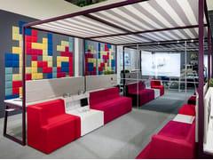Bench a tendalino con zona lounge intregrataFUSION | Isola ufficio - CENTRUFFICIO LORETO