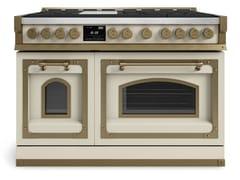 Cucina a libera installazione professionale in acciaioFIORENTINA OGG486FC | Cucina a libera installazione - OFFICINE GULLO