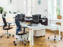 Postazione di lavoro multipla in nobilitato per open space OGI_U_BENCH - Ogi