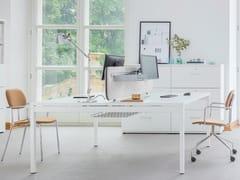 Postazione di lavoro multipla in nobilitato per open space OGI_Y_BENCH - Ogi