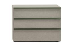 Cassettiera in legno e tessuto con tre cassettiOIKOS 3 - BOLZAN LETTI