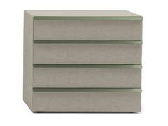 Cassettiera in legno e tessuto con quattro cassettiOIKOS 4 - BOLZAN LETTI