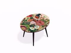 Tavolino ovale in HPL e faggioOISEAU LIBERTE L - BAZARTHERAPY