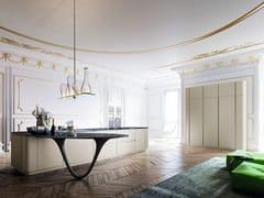 Cucina laccata con penisola OLA 25 | Cucina laccata - ICONE