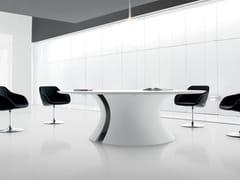 Tavolo da riunione laccato rotondo OLA | Tavolo da riunione laccato - Ola