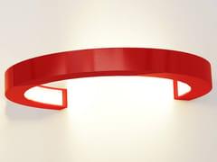 Lampada da parete a LED a luce indiretta in alluminioOLALA WALL 270 - OLEANT