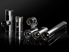 Canna fumaria doppia parete in acciaio inox e varie finitureOLIFLEX DP AIR INOX-INOX / AIR INOX-RAME - OLI