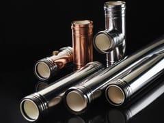 Canna fumaria in tecnopolimero PPS e finitura inox o rameOLIFLEX DP AIR PPS-INOX / AIR PPS-RAME - OLI