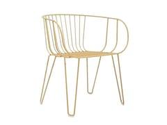Sedia da giardino in acciaio zincato con braccioliOLIVO | Sedia con braccioli - ISIMAR