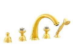 Set vasca a 5 fori con cristalli Swarovski® OMAN | Set vasca con cristalli Swarovski® - Oman