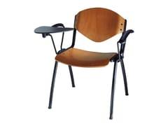 Sedia da conferenza impilabile in legno con ribaltina OMNIA CONTRACT | Sedia in legno - Omnia