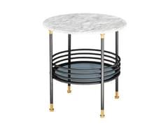 Tavolino di servizio rotondo in marmo con vano contenitoreONA | Tavolino - FARGO HONGFENG INDUSTRIAL