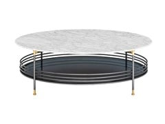 Tavolino da caffè rotondo in marmo con vano contenitoreONA | Tavolino in marmo - FARGO HONGFENG INDUSTRIAL