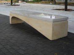 Panchina in pietra ricostruita ONDA | Panchina -