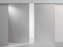 Porta scorrevole senza telaio ONDA | Porta scorrevole - Graffiti