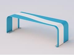 Panchina in acciaio zincato senza schienaleONDINA | Panchina - DIMCAR