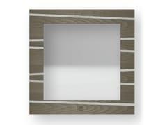 Specchio quadrato da parete con cornice ONE COLD | Specchio - DOLCEVITA LINES