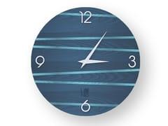 Orologio da parete in legno intarsiatoONE COLORS | Orologio - LEONARDO TRADE