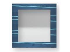 Specchio quadrato da parete con cornice ONE COLORS | Specchio - DOLCEVITA LINES