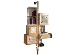 Libreria sospesa in legno con cassettiONE | Libreria sospesa - LOLA GLAMOUR