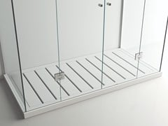 Piatto doccia a doghe rettangolare in Solid SurfaceONE SHOWER CORIAN - MOMA DESIGN BY ARCHIPLAST