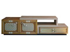 Mobile TV in legno con ante a battente e cassettiONE | Mobile TV - LOLA GLAMOUR